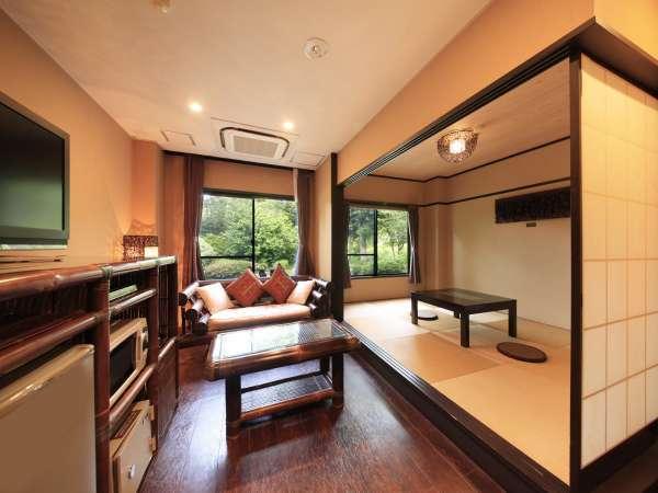 和洋室のリビング横の琉球畳でごろり♪
