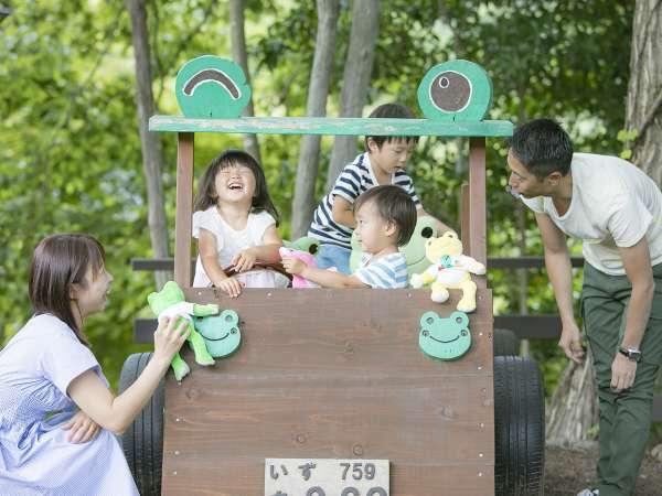 【アンダの森 伊豆いっぺき湖】家族を応援、無料の遊び場が一杯!クチコミ4.5のバリ風リゾート!