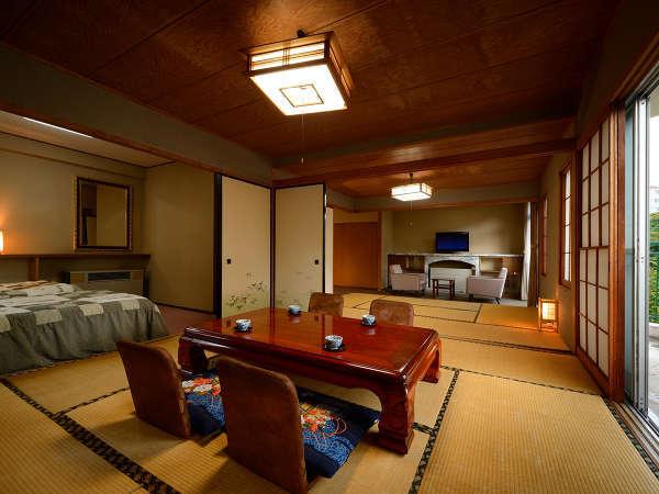 【和洋室】バス、トイレ付きの広々とした二間続きのお部屋