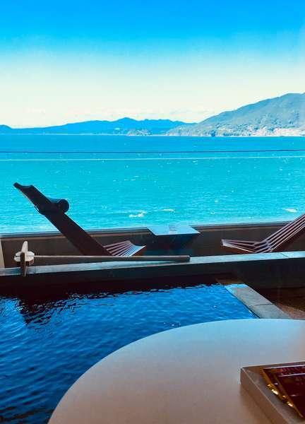 全室オーシャンビュー露天付客室!プライベートな空間で小浜温泉を堪能できる♪