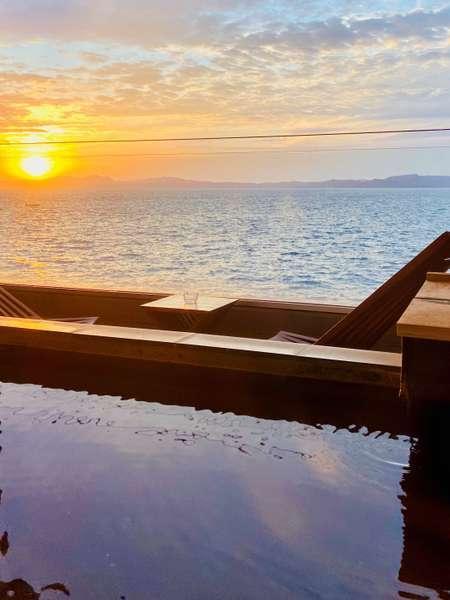 小浜温泉No1の絶景♪♪お部屋からの夕日です♪お部屋は全室が海側オーシャンビューです♪♪♪