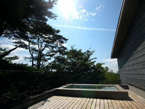 ミネラルバランスの良い「安達太良山の伏流水」を使った雲上露天風呂