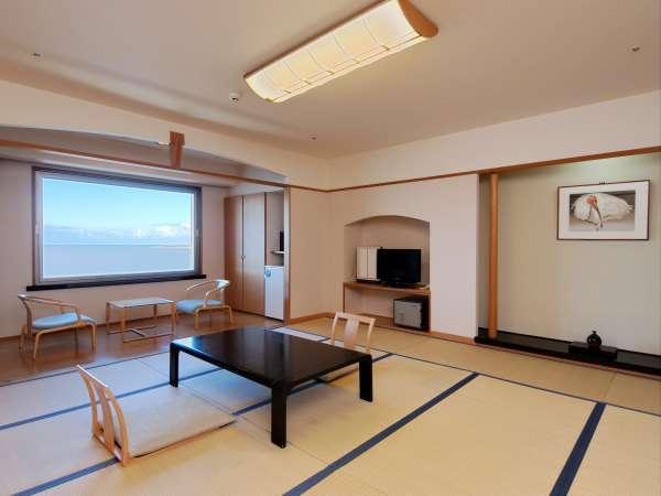 ▲ 当館  和室【 日本海が望める部屋 】景観を心ゆくまで、ご満喫下さい。Wi-Fi完備