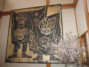 【玄関の大版画】獅子舞(1.8m×1.8m)日影義朗先生