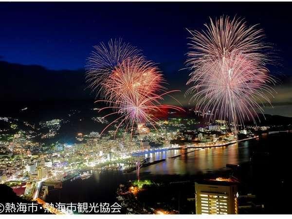 高台から見た熱海花火