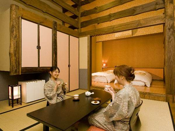 新オープン!半露天風呂付きのお部屋「扇山」
