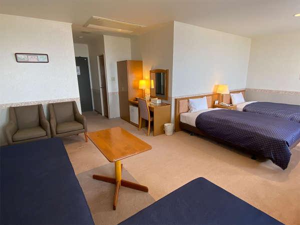 【スイート】37㎡の広々客室でゆっくりとお過ごしください。EXベッド利用で3名様迄宿泊可