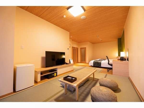 解放感溢れるシンプルな畳敷きのお部屋で癒しの休日をお過ごしください。