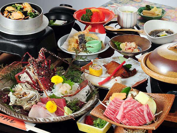 鳥羽志摩の網元料理をお手頃価格でお試しいただけるプラン。1万円でも伊勢エビお造り付。