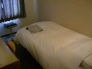 お一人様でゆったりご利用いただけます。シングルルームの写真でございます。