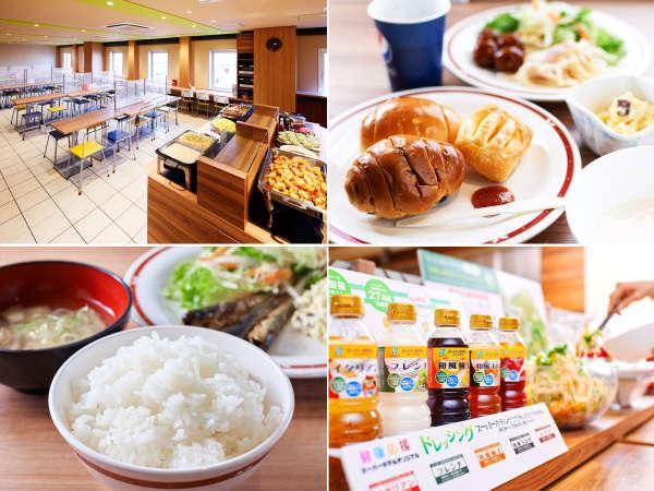 大人気の無料健康朝食♪