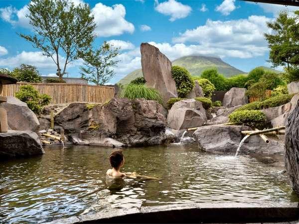 【大露天風呂】由布岳を望みながらゆったり温泉をお愉しみください~雲海の湯~