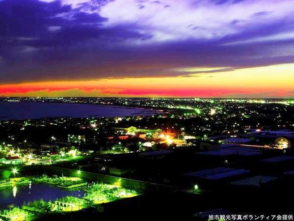 当館の目の前から見える日本の夜景100選に選ばれた夜景