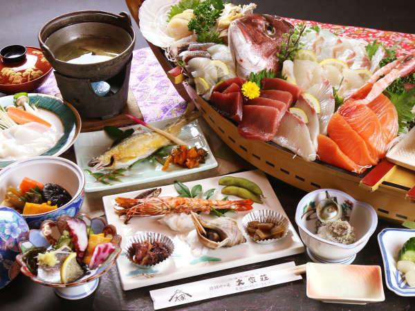 ◆名物・大舟盛が好評!吟味して仕入れた地元の海山の旬を、主人が腕によりをかけて作った料理。*