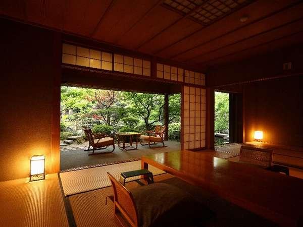 【離れ家・紅塵庵】(茶室の趣を残した本格数奇屋造りの建築様式で日本の伝統美を随所にお感じ頂ける造り)
