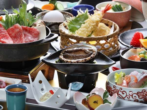 【2大グルメの饗宴会席】チョイス活鮑(お造り又はバター焼き)