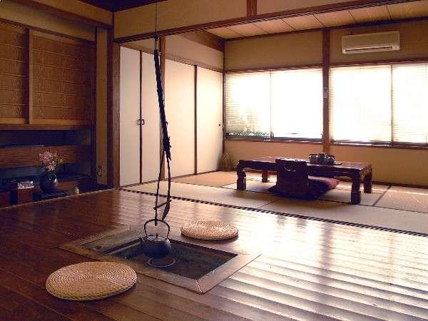 離れの和室はお風呂付きです