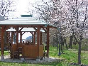 春のリバーサイドコテージ。お花見しながらバーベキュー