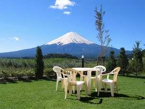 富士に癒されるプライベートガーデン