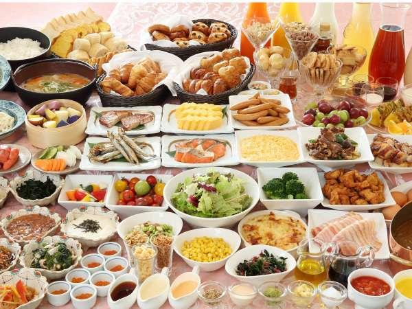 道産食材を使った和洋朝食バイキングは約60種をご用意しております♪(写真はイメージです)