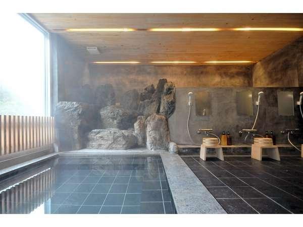 渓谷を望む女子大浴場浴室2