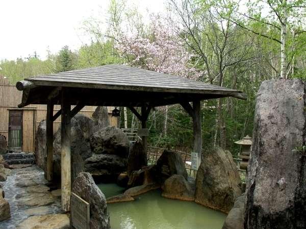 【天然温泉】春の露天風呂-山桜の花見をお楽しみ頂けます