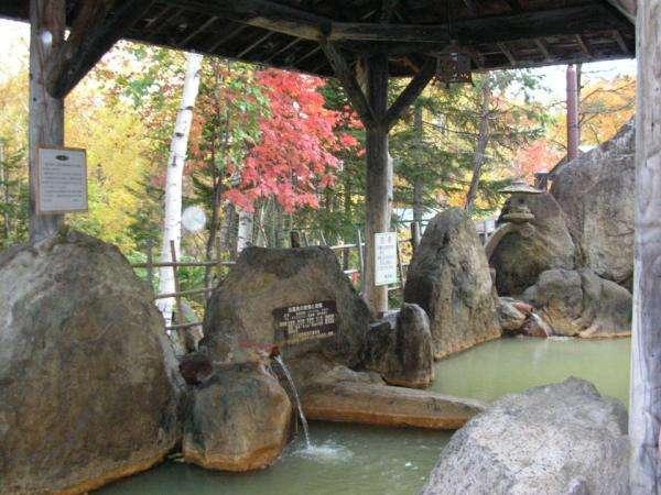 【天然温泉】秋の露天風呂-紅葉をお楽しみ頂けます