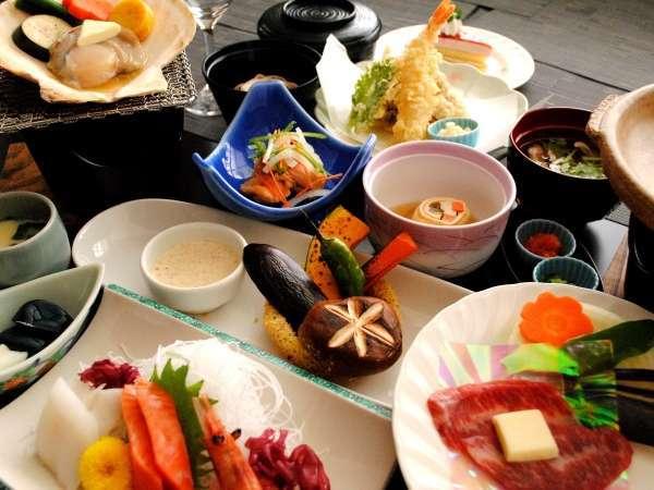 地元食材をふんだんに使用した和食膳