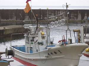 これが自慢の「秀竹丸」です。今朝は3時起きです!美味しいお魚とりに行ってきます