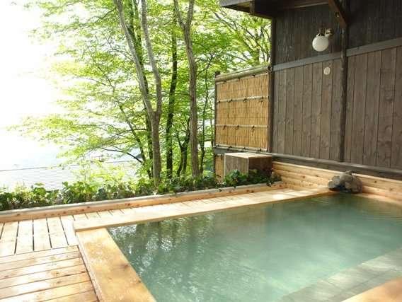 期間限定の『新・山の湯』露天風呂 一般開放時間は朝5時より10時・午後は貸切のみ