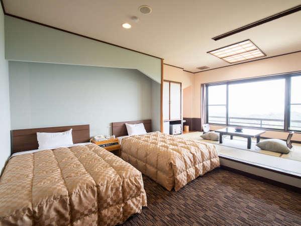 和洋室12畳/阿武隈山系を一望する絶景の客室