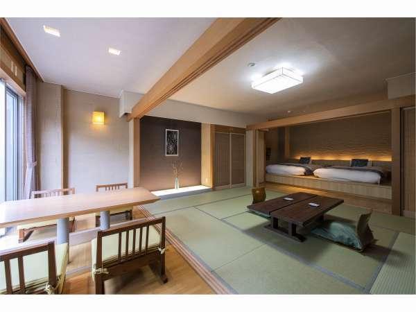 【露天風呂付き客室】一例『風のお部屋』約80平米の広々空間でごゆっくりとお寛ぎください