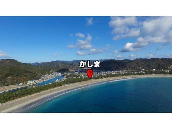 日本百選の弓ヶ浜海岸