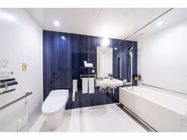 [バスルーム]禁煙ユニバーサルツインルーム:バリアフリー仕様になっております