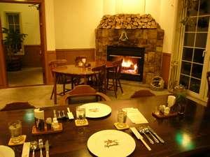 暖炉のあるレストランであたたか!
