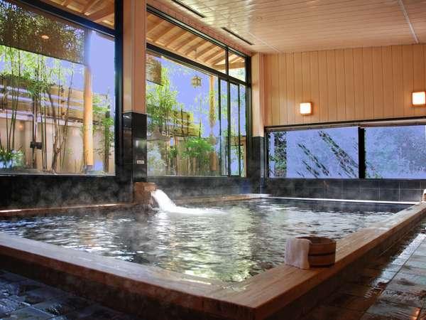 【大浴場/朋來の湯】人気の朋來の湯は良質の温泉と雰囲気が好評です