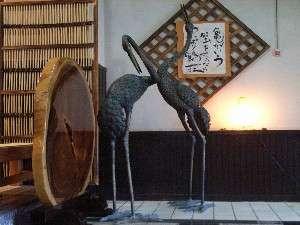 かにのお宿・鶴荘の顔『夫婦鶴』