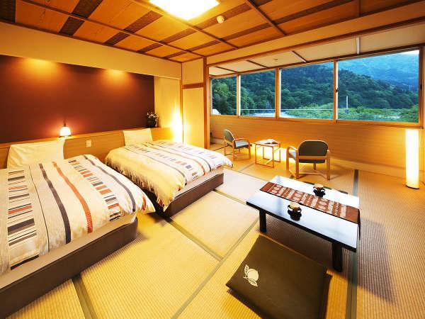 ◆和ベッドルーム◆2015年7月オープン♪『シモンズベッド』導入の上質空間。大切なひととごゆっくり♪