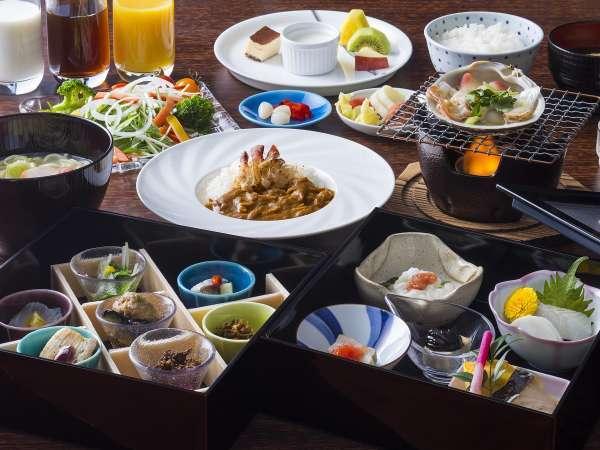 苫小牧の名産「ホッキ」も楽しめる朝食をご堪能下さい。