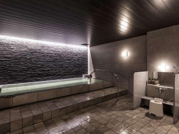 【モダン湯 瞑想気分。】無機質でスタイリッシュなデザインは「瞑想」が似合いの浴場