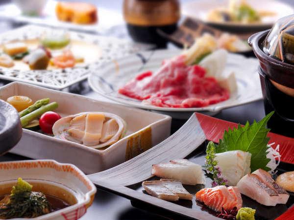 瀬戸の海の幸や讃岐の山里の幸を散りばめたディナーコース(料理イメージ)
