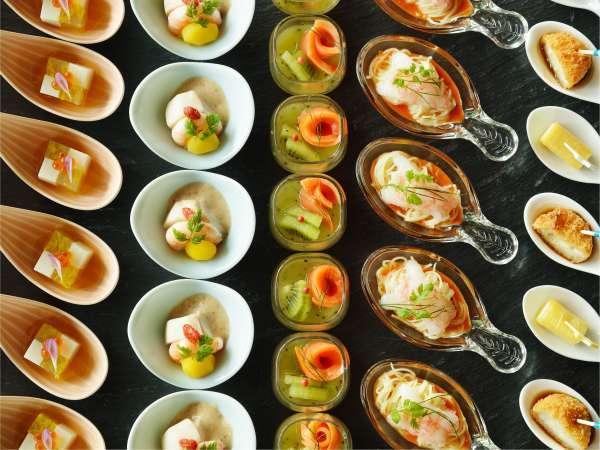 ★ブッフェにはおしゃれなワンスプーン料理や小鉢が充実★お酒派にもぴったりです!