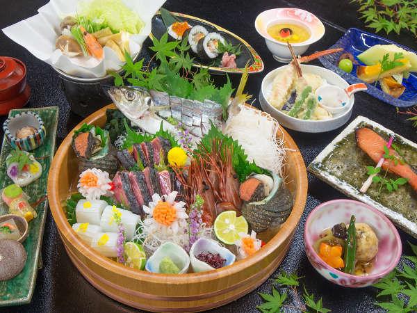 ◆さぬき会席~旬の食材を使用した季節の会席。時期により内容は異なります。
