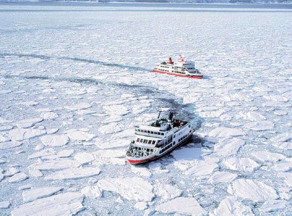 網走の冬の風物詩「流氷砕氷船おーろら」で感動体験をどうぞ!