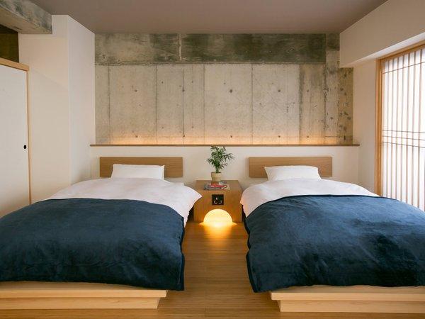 スタンダードファミリールームの常設ベッドです。