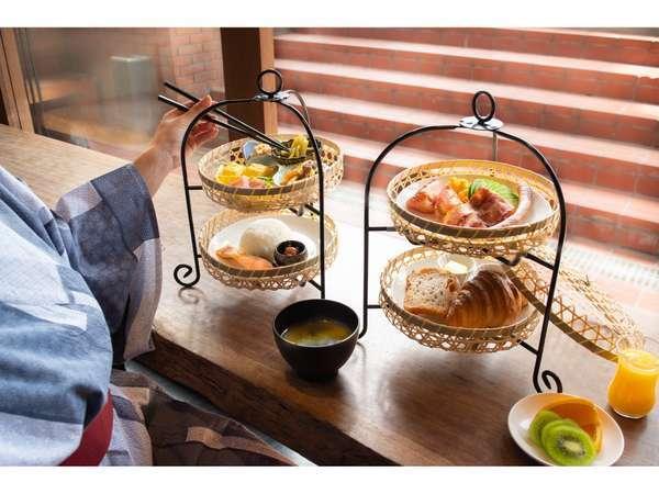 和食と洋食から選べる、当ホテル限定の和モダンな朝食