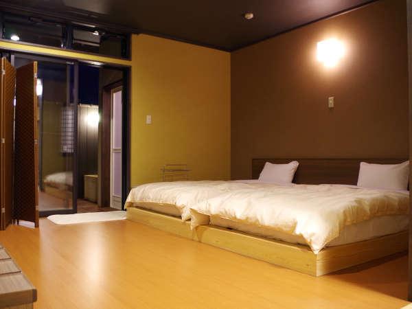 *【和洋室一例】温泉をひいた露天風呂付のお部屋です。