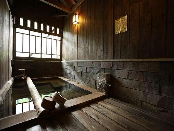 【のし湯】【内風呂家族風呂】ゆったり入れる姉妹館の内湯家族風呂。宿泊の方は無料利用可。
