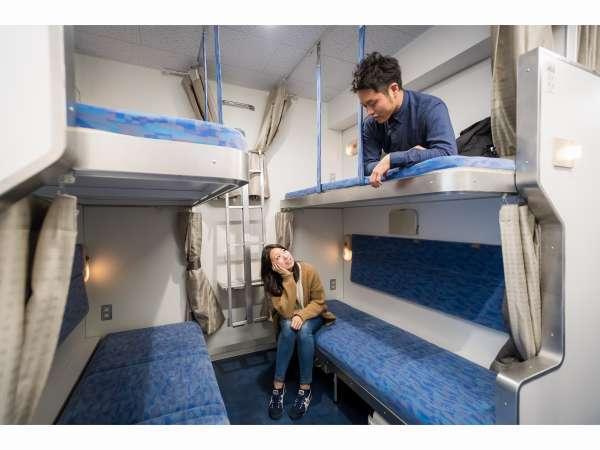 本物の寝台列車に乗っている感じでお客様同士のおしゃべりも楽しんでくださいね。