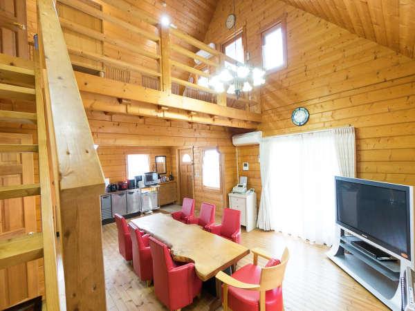 【貸別荘】木のぬくもりをたくさん感じれるおしゃれな空間のログハウス
